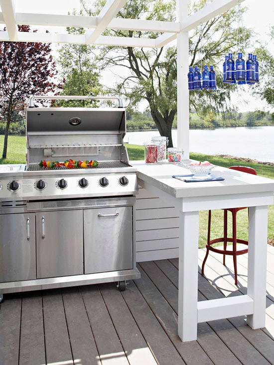 Awesome outdoor bbq spaces westport ct real estate for Outdoor cooking station ideas